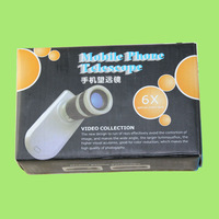 NEW 6X Mobile Phone Telescope For Apple IPhone 4G 4 4S 5 Adjusting The Lens Distance