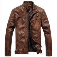 Men's Vintage Top Designed Faux Leather Jacket Coat Motorcycle Jacket 405
