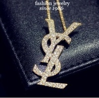 New luxury fashion Famous Brand Jewelry Alloy drill Necklace FreeShipping/Wholesale 3-2-14