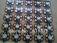 10pcs 3W 365nm UV LED ultraviolet LED chip light High Power bead with 20mm pcb