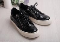 GZ sneaker 2014  fashion low top gz sneaker black lace-up sneaker for women brand man sneakers flat EUR size 34-45 free shipping
