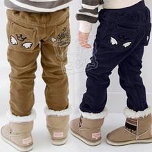 2013 winter wings boys clothing baby child plus velvet thickening corduroy trousers kz-1265(China (Mainland))