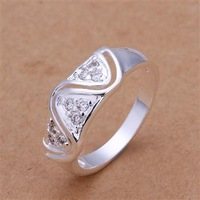 R178 Size:8 Wholesale 925 silver ring, 925 silver fashion jewelry, fashion ring