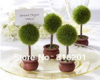 Free shipping 24pcs/lot Wedding favor Topiary tree Photo and Place Card Holder Wedding table decoration or party Wholesale