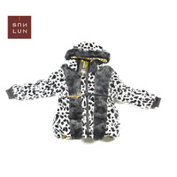 2014 Leopard print child down coat Hot sell children winter jacket kid jacket outwear children outerwear SCG-3105 Free shipping