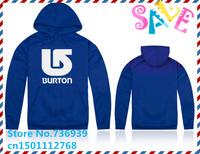 Online Stock Brand Burton Cheap Free Shipping Brand Hoodies Big Size Clothing Hooded Korean Style Hoodie Men Jacket