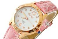 CAI QI brand Women Rhinestone Diamond Designer Wristwatches Leather Quartz Swiss Watches Free Shipping 5938