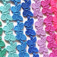 Free Shipping 2013 Newest 10 Colors Butterfly Shape best quality Italy Lace Bracelet fashion Jewelry 50PCS/LOT