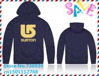 Online Stock Brand Burton Cheap Free Shipping Man hiphop autumn winter branded Hoodies fleece print fashion fall Apparel