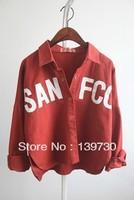 Chest letter design short casual jacket outerwear