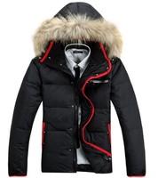 Brand men's warm outdoor waterproof windproof winter down jacket parka coat hoodies outerwear overcoat thick clothing