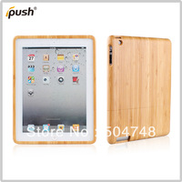 Free Shipping Silp Wooden Protective Tablet Back Cover Case For Ipad 2 3 4 Wooden Back Skin Case