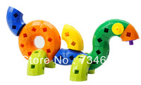120 pcs Plastic  Bent Tube Inserting Toy Educational Toy Children's Gift