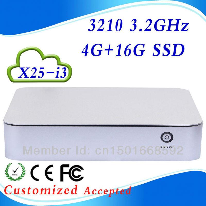 Support hd video X25-I3 core I3 4G RAM 16G SSD mini computer mini pc windows mini pc High Performance(China (Mainland))