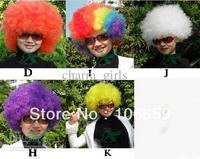 Wholesale - 20 pcs * Explosion head curls Clown hair Fans wig Dance wig Performance wig many colors