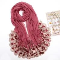 autumn& winter women scarves ,solid color designer tassel crystal long scarfs ,muslim hijab GS6923 dropshipping