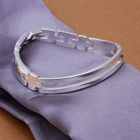 Christmas Gift H315 Wholesale! Free Shipping  925 silver bracelet, 925 silver fashion jewelry 8inch Watch chain Bracelet
