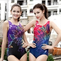 Professional female Siamese boxer swimsuit was thin cover belly conservative gather spa swimsuit XL