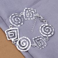 H324 Wholesale! Free Shipping  925 silver bracelet, 925 silver fashion jewelry  thread charm Bracelet