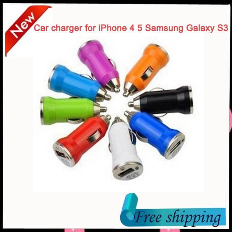 Mini 5V 1A USB Car Charger for iPhone 3G 3GS 4 4S 5 Samsung Galaxy S3 S4 iPod Cell Mobile Phone Charger Adapter free shipping(China (Mainland))
