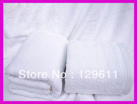 free shipping 100% cotton white bath towel toalha hotel bath towels for adults wedding gift toalha hotel