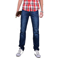 Hot Men Stylish Designed Straight Slim Fit Denim Trousers Casual Jean Pants GMF-67259