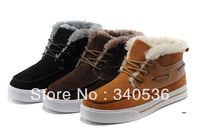 Free shipping 2013 men winter plush sneakers fashion plus wool sneakers casual outdoor shoes patchwork sewing boots 40-44