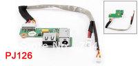 DC Power Jack Socket Cable Wire USB Port Board 90W PJ126 for HP Pavilion DV6000