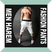 new fashion men harlem pants jogging Casual sports pant boys black white Haroun pants harem sweatpants women plus size overalls