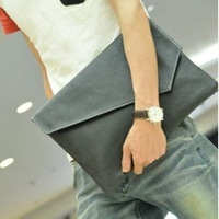 Free Shipping 2013 New Men Bag Brief Fashion Envelope Bag Day Clutch Vintage Paper Bag Briefcase B0873