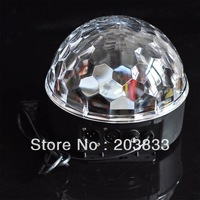 DMX512 LED Multi-color Disco DJ Lighting Digital RGB Crystal Magic Ball Stage Effect Light