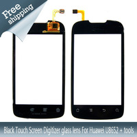 Black Touch Screen Digitizer glass lens For Huawei U8652 + tools