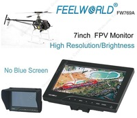 "Free Shipping!FEELWORLD FPV-769A 7"" HD 800x480p FPV Monitor w/ Sun Shield for RC Helicopter"
