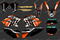 New style (orange 0283) TEAM GRAPHICS & BACKGROUNDS DECALS FOR KTM SX XC XC-W EXC 2008 2009 2010 2011