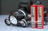 4000 Lumens 3 x CREE XM-L  T6 LED  Headlamp Rechargeable Headlight Head Torch Flashlight+2 Battery  Free Shipping