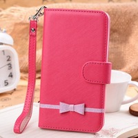 Free Gift! PU leather butterfly bowknot cute Case For Samsung Galaxy Note 3 III N9000, free shipping