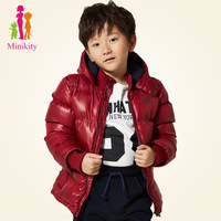 2013 winter children's clothing child outerwear thermal male child small thickening with a hood wadded jacket cotton-padded