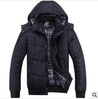 2014 Super Quality Fashion Brand Man Jacket Double thick warm Winter Sports Coat Black