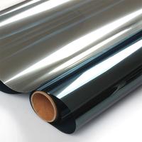 Window sun glass explosion-proof membrane balcony glass film dodechedron solar film reflective insulation film silver