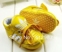 Free Shipping Wholesale 2013 Royal Brilliant DK Gold Stripes Sports Shoes Style BB Shoes/Prewalkers/Infant Shoes