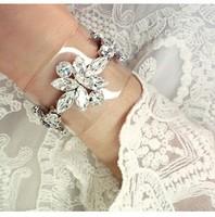rihanna love style Crystal Flower jelly wristband transparent Bracelet Korean women trendy hollywood recommend pvc bangle