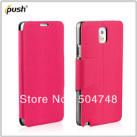 Free Shipping Original Flip PU Leather Protective Plastic PC Hard Cell Phone Cover For Samsung Galaxy Note III 3