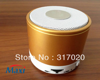 2PCS/package Local tyrants gold color Mini S10 bluetooth speaker with MIC,TF card,Portable Audi Player, accept wholesale !