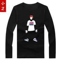 Free shipping HOT sale 2013 Jabbawockeez hiphop hip-hop 100% cotton long-sleeve T-shirt  dress clothes