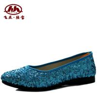 Cotton-made beijing shoes women's shoes casual comfortable Women single shoes fashion paillette cotton-made female flat heel