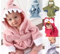 2014 free shipping Retail 1 set Top Quality!new Baby boy girl Animal hoody bathrobe kids fashion bath terry infant bath towel