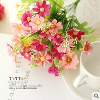 [6 color]  6pcs/lot,beautiful fresh elegant artificial flower silk flower decoration flowers Christmas Wedding