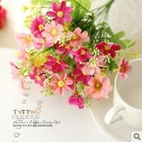 [6 color]  6pcs/lot,beautiful fresh elegant artificial flower silk flower decoration flowers Christmas Wedding