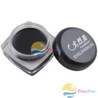 [Super Deals] Black Waterproof Eye Liner Eyeliner Gel Makeup Cosmetic + Brush wholesale