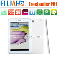 Freelander PX1 MTK8389 Quad Core 3G phone call tablet pc 7'' IPS 1GB 8GB Dual Camera Bluetooth GPS FM WIFI HDMI Android 4.2